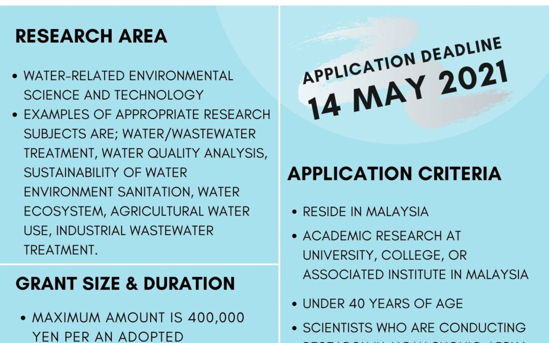 Kurita Water and Environment Foundation (KWEF) Overseas Research Grant